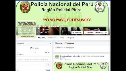 Piura: PNP pone en marcha página de facebook para denuncias