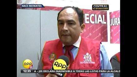 Ocho listas para Lima ya presentaron subsanaciones