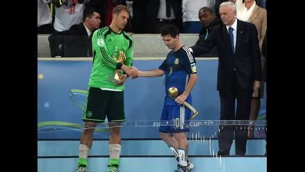 Manuel Neuer tuvo mejor promedio de pase que Lionel Messi en el Mundial