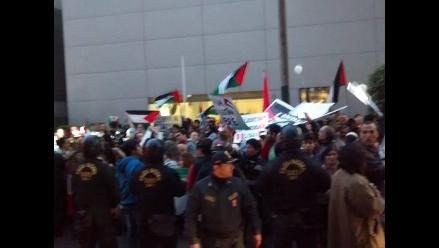 San Isidro: Comunidad palestina protesta frente a embajada de Israel