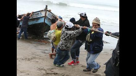 Trujillo: Pescadores artesanales paralizan labores por oleaje anómalo