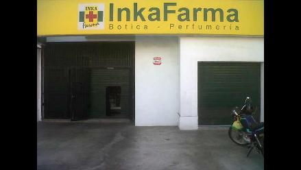 Huaral: delincuentes provistos de armas roban farmacia
