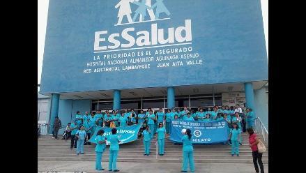 Chiclayo: enfermeras de EsSalud continuarán con huelga