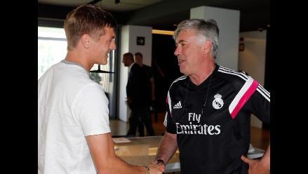 Toni Kroos conoció a Ancelotti y nuevos compañeros en la Ciudad Real Madrid