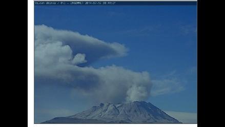 Arequipa: se registró una nueva explosión en el volcán Ubinas