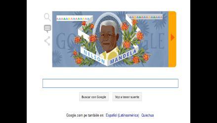 Google rinde homenaje a Nelson Mandela con doodle
