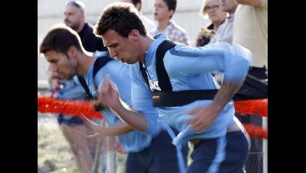 Mario Mandzukic ya entrena bajo órdenes de Simeone en Atlético de Madrid