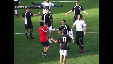 Grupo de amigos recreó partido de fútbol al estilo del FIFA 15