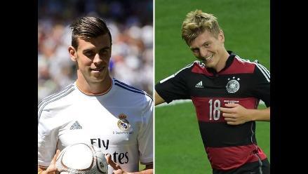 Gareth Bale saluda a Toni Kroos y le da la bienvenida al Real Madrid