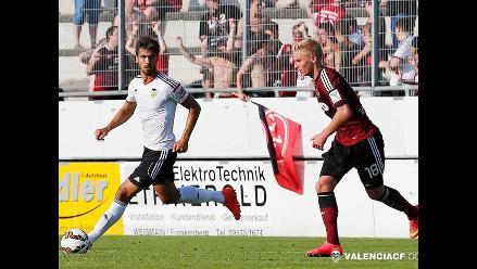Valencia cayó 3-1 ante Nuremberg previo al duelo con Alianza Lima