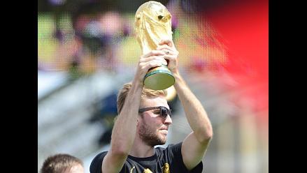 Trofeo de la Copa del Mundo es dañado en celebración de Alemania