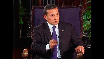 Humala confirmó que dirección de PN decidió candidatura de Solórzano