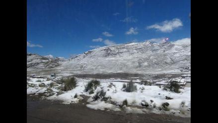 Senamhi alerta heladas en Arequipa