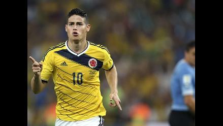Gol de James Rodríguez a Uruguay fue elegido el mejor del Mundial