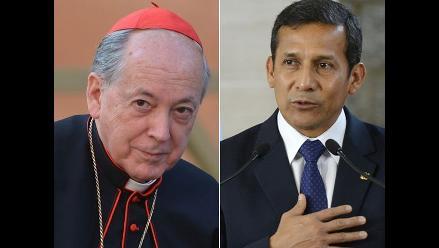 Presidente Humala y cardenal Cipriani hablaron de aborto y unión civil