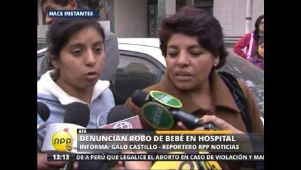 Denuncian desaparición de recién nacido en Hospital Vitarte