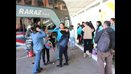 Huancayo: buses llegan con más de siete horas de retraso por nevada