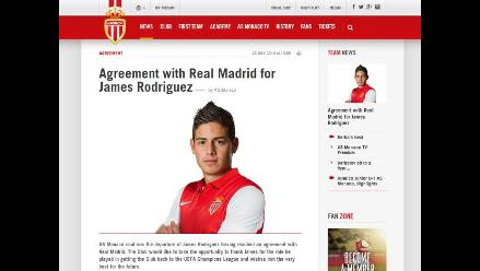Mónaco sobre traspaso de James: Es una de las mayores transferencias