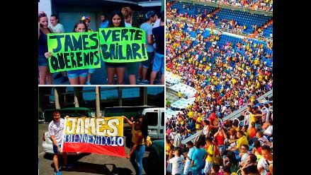 Colombianos llegan al Bernabéu para presentación de James Rodríguez