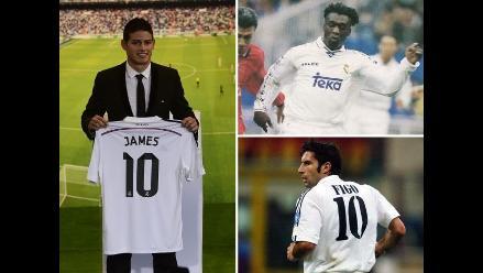 A propósito de James Rodríguez: Conoce otros ´10´ históricos de Real Madrid
