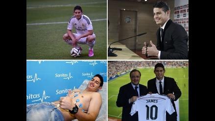 Reviva en imágenes el agitado día de James Rodríguez en Real Madrid