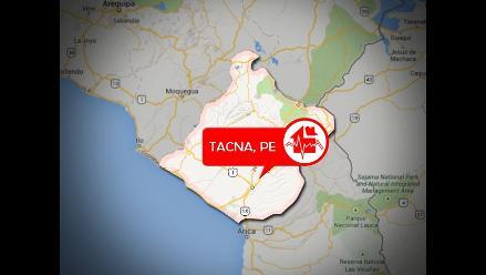 Sismo de regular intensidad se sintió en Tacna