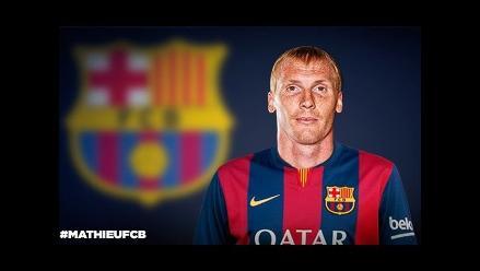 Barcelona ficha al defensa Jeremy Mathieu por cuatro temporadas