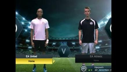 Recrean un partido de FIFA en la vida real