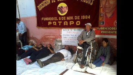 Jubilados de Pucalá se declaran en huelga de hambre