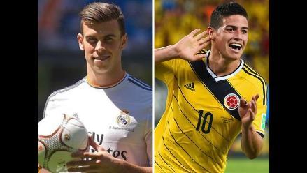 Gareth Bale: Espero que James haga lo mismo que hizo en el Mundial
