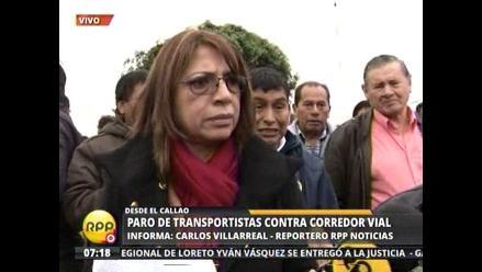 Transportistas del Callao afirman que el sábado ingresarán al corredor
