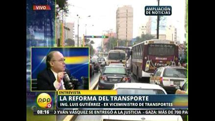 ¿Cómo debe apoyar el Gobierno a la reforma del transporte?
