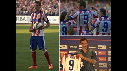 Revive la presentación del croata Mario Mandzukic en el Atlético Madrid