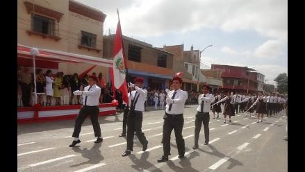 Piura: realizan el desfile cívico escolar por Fiestas Patrias