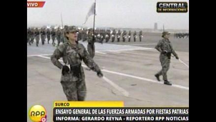Más de 4 mil miembros de FFAA ensayan para desfile militar del 29 de julio
