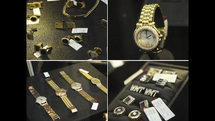Exhibirán joyas de Vladimiro Montesinos antes de ser subastadas