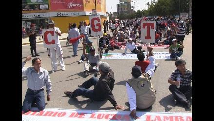 Chiclayo: CGTP pide a Humala diálogo y mejoras en mensaje presidencial