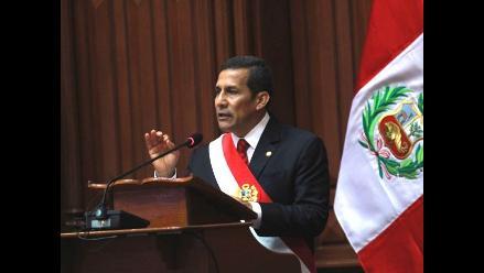 Ollanta: ´Seguiremos invirtiendo fuertemente en infraestructura´