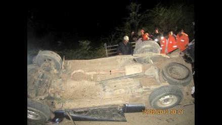 Junín: accidente de tránsito dejó cinco personas fallecidas en Tarma
