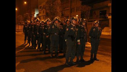 Policía Nacional cercó calles desde tempranas horas de la mañana