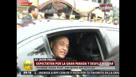 Ministro Daniel Urresti llegó a la Parada Militar