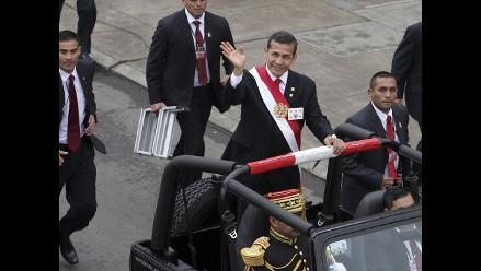 Así fue la llegada de Ollanta Humala a la Gran Parada Militar
