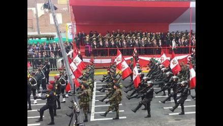 Policía Nacional se hizo presente en desfile de homenaje a la Patria