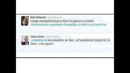 Carlos Cacho y Koki Belaúnde criticaron look de políticos