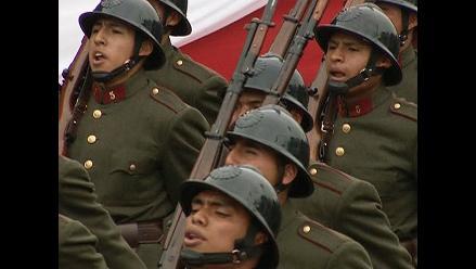 Marcha del Ejército del Perú en la Gran Parada y Desfile Militar