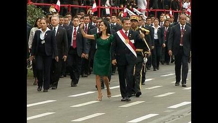 Ollanta Humala da por terminado el desfile cívico patrio