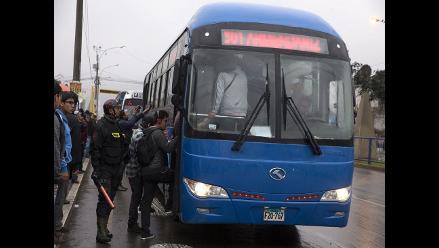 Buses del corredor TGA salen a hacer sus rutas antiguas