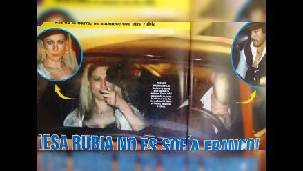 Captan a pareja de Sofía Franco con otra rubia