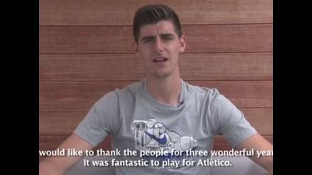 Thibaut Courtois y su emotivo discurso de despedida del Atlético Madrid