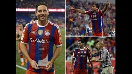 Claudio Pizarro fue el mejor en amistoso de Bayern Munich ante Chivas